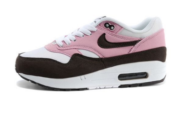 nike sneaker laser shox - air max 1 noir et rose