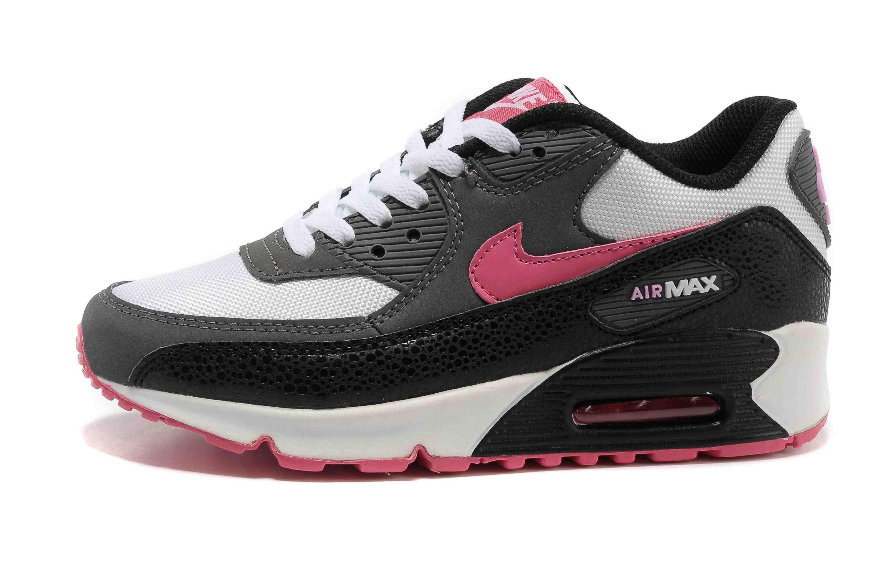 nike air max 90 femmes tricot noir rose