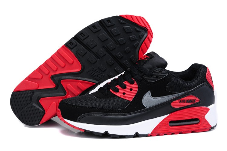 nike air max 90 noir gris rouge