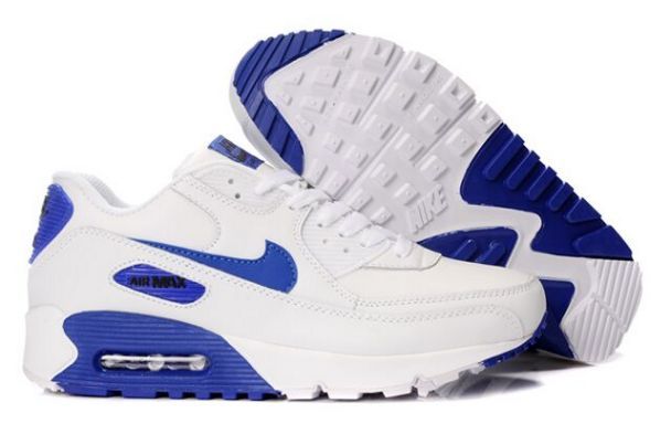 prix compétitif e6a3c acbf2 nike air max 90 blanc bleu