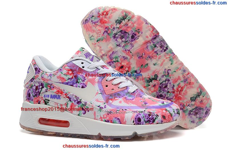 nike air max 90 fleurs femme chaussures peach