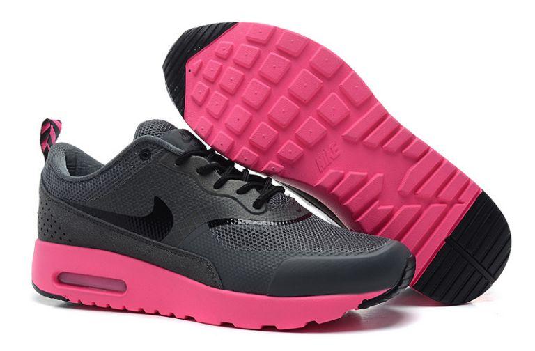 new arrival c6811 92097 air max thea noir et rose,chaussures nike air max thea noir et rose enfant  vue interieure