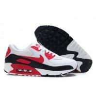 Nike Air Max 90 Hommes Formateurs Universitaire Rouge/Noir/Blanc
