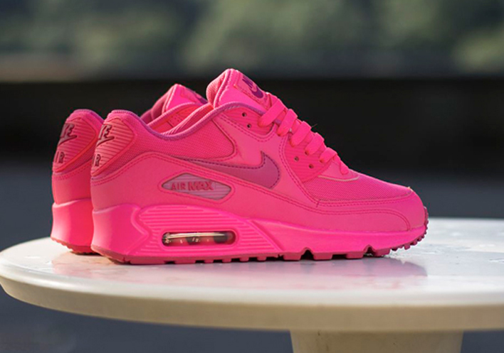 low priced 0b519 3cdc9 nike air max 90 femme 2007 gs hyper rose